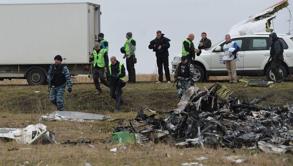Обломки на месте крушения малайзийского Boeing, архивное фото