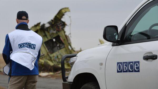 Представители ОБСЕ на месте крушения MH17, архивное фото