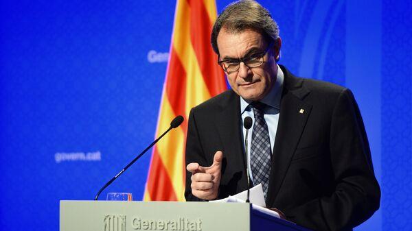 Председатель правительства Каталонии Артур Мас. Архивное фото