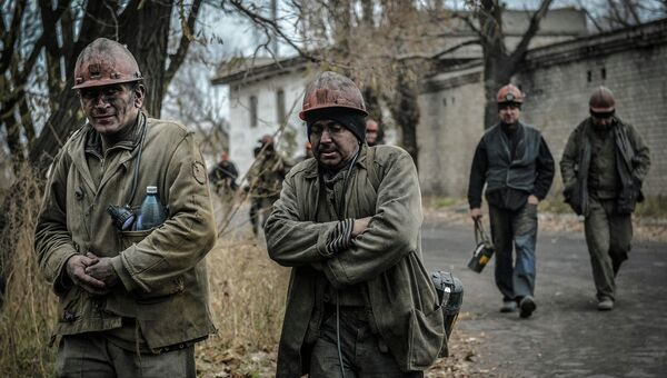Шахтеры Донбасса. Архивное фото