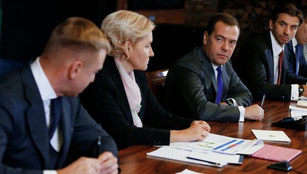 Встреча Д.Медведева с членами Экспертного совета при правительстве РФ