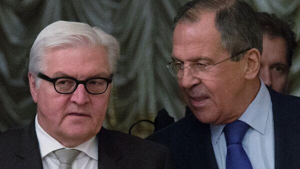 Встреча глав МИД России и Германии С.Лаврова с В.Штайнмайером. Архивное фото