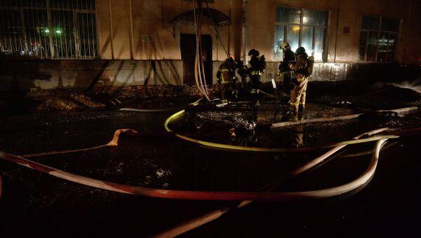 Тушение пожара, архивное фото
