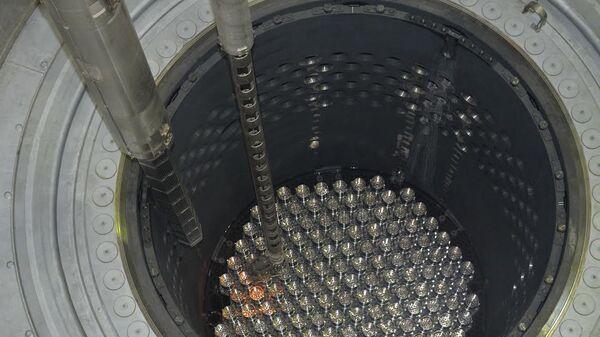 Загрузка ядерного топлива в реактор. Архивное фото