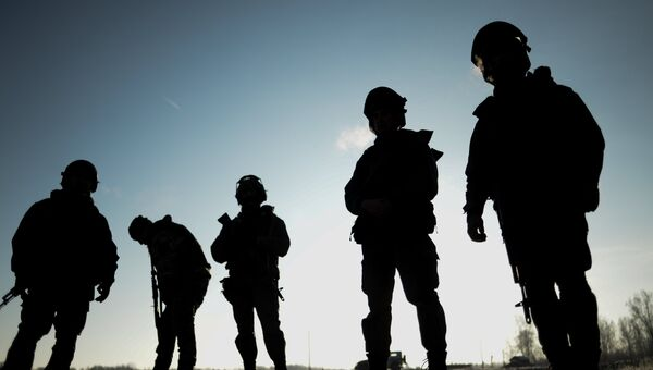 Бойцы СОБР на тренировке. Архивное фото