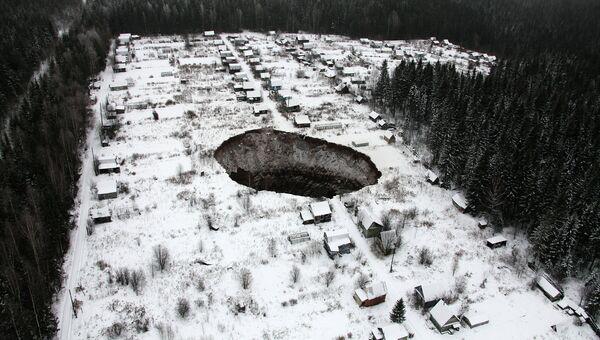 Провал рудника предприятия Уралкалий в Соликамске
