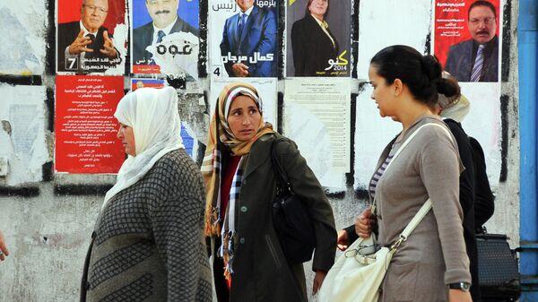 Агитация на президентских выборах в Тунисе. Архивное фото