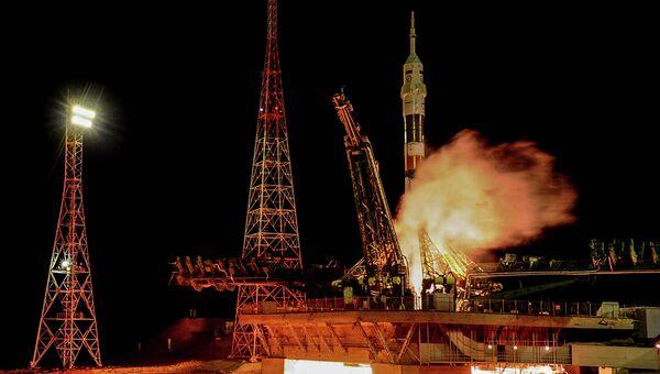 Старт ракеты-носителя Союз-ФГ на космодроме Байконур, архивное фото
