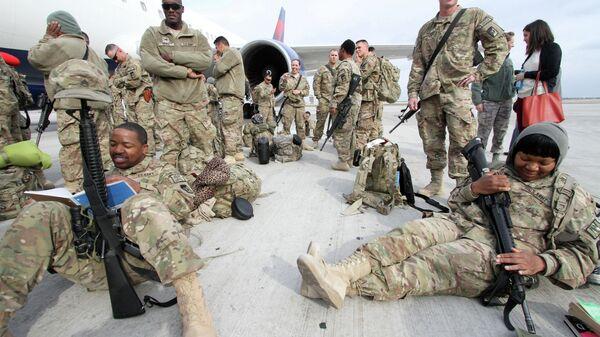 Американские военные, прибывшие из афганского города Кандагар. Архивное фото
