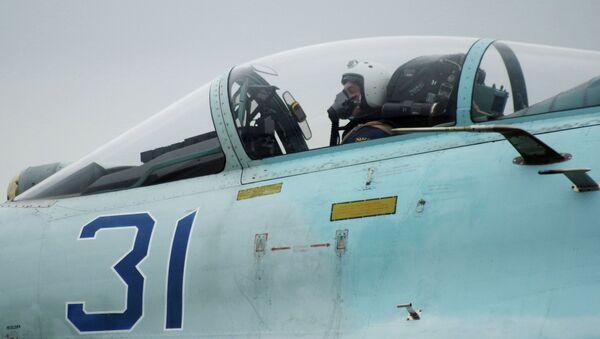 Один из самолетов Су-27 СМ. Архивное фото