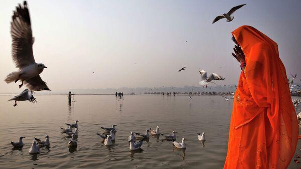 На берегу Ганга в Аллахабаде, Индия. Архивное фото