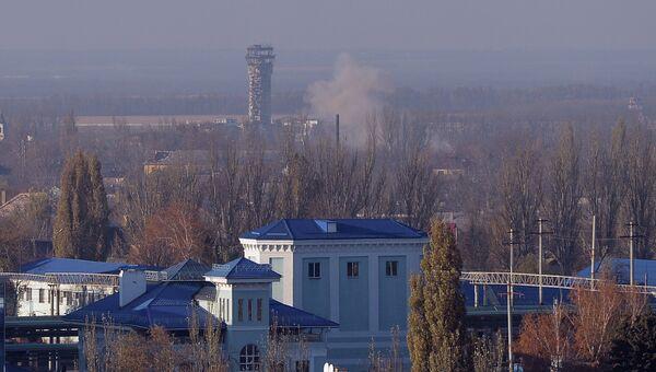 Вид на здание аэропорта Донецка из Куйбышевского района города