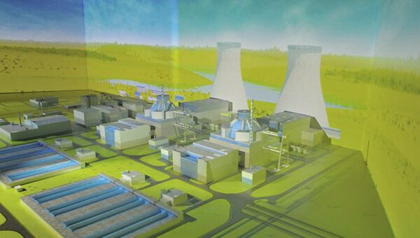 Макет АЭС Аккую в Турции