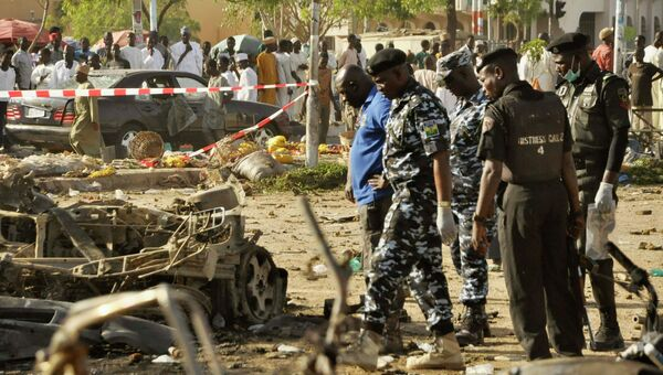 На месте теракта в Нигерии