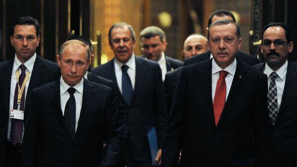 Рабочий визит В.Путина в Турцию. Архивное фото
