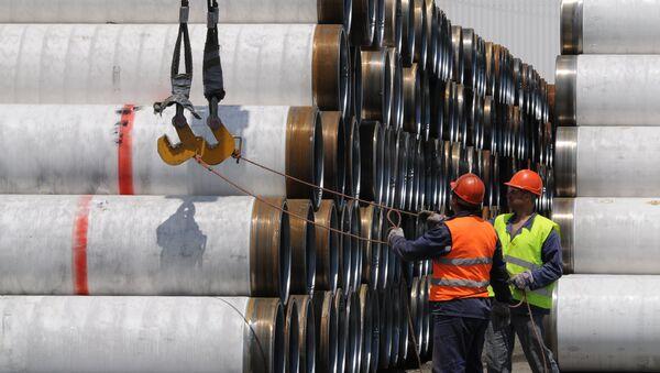Трубы для Морского газопровода Южный поток. Архивное фото