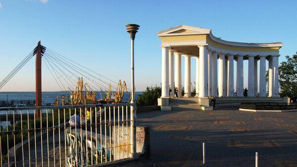 Колоннада на Приморском бульваре в Одессе