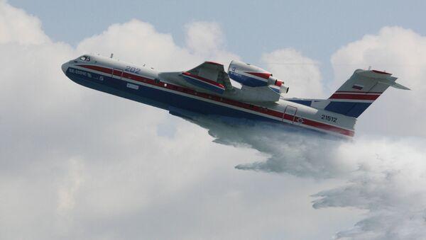 Многоцелевой самолет-амфибия Бе-200ЧС. Архивное фото