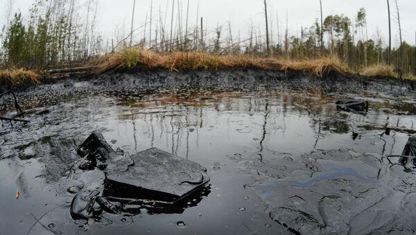 Разлив нефти на Мамонтовском месторождении в Ханты-Мансийском округе