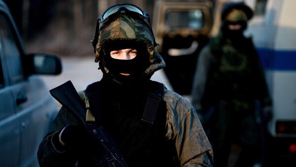 Бойцы СОБР на тренировке перед командировкой в Дагестан. Архивное фото