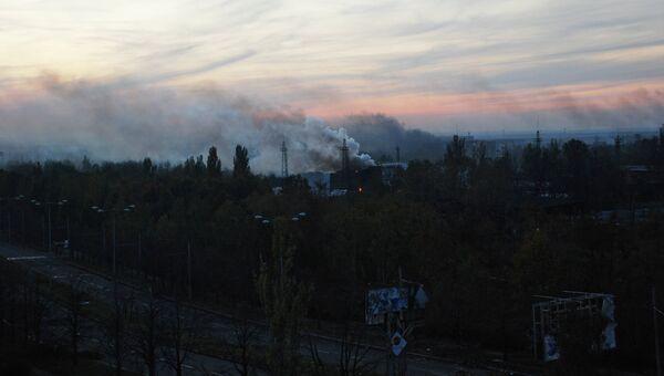 Во время боя в районе аэропорта города Донецка. Архивное фото