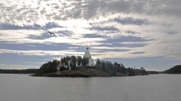 Валаамский мужской монастырь на Ладожском озере, архивное фото