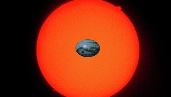 Овальная экзопланета