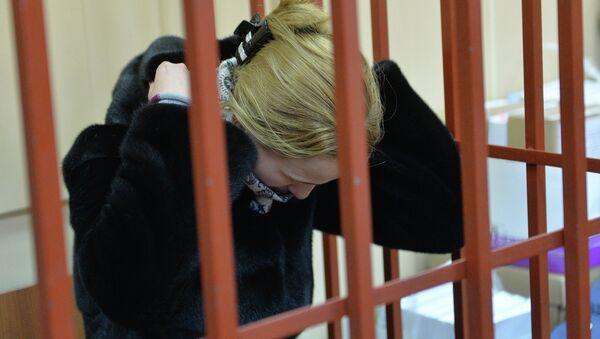 Диспетчер-стажер аэропорта Внуково Светлана Кривсун  в зале заседаний Басманного суда Москвы. Архивное фото