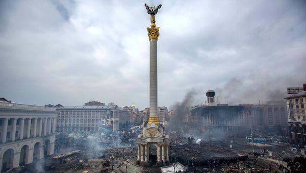 Столкновения на площади Независимости в Киеве. Архивное фото