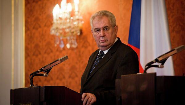Президент Чехии Милош Земан. Архивное фото