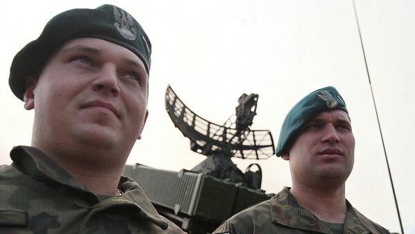 Польские военные во время учений. Архивное фото