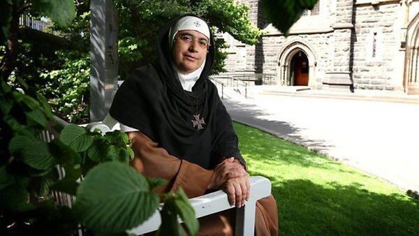 Сирийская правозащитница монахиня Агнесс Мариам Ас-Салиб