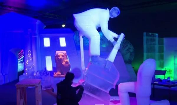 Ледяной фестиваль в Германии