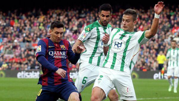Матч 16-го тура чемпионата Испании по футболу между Барселоной и Кордовой