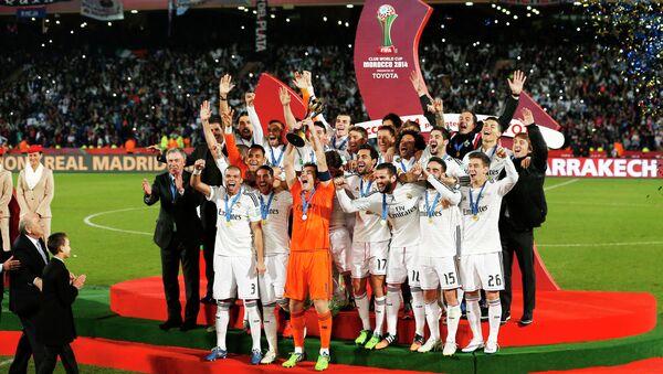 Церемония награждения в честь победы Реала в финале клубного чемпионата мира
