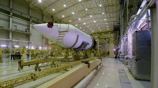 Монтажно-испытательный корпус стартового комплекса ракеты Ангара. Архивное фото