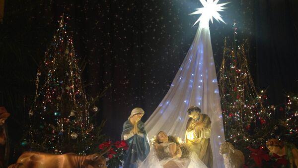 Рождественский вертеп в кафедральном соборе Непорочного зачатия Пресвятой Девы Марии в Москве