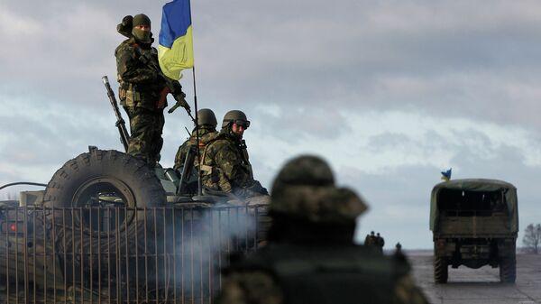 Солдаты украинской армии возле Краматорска, Донецкая область. Архивное фото