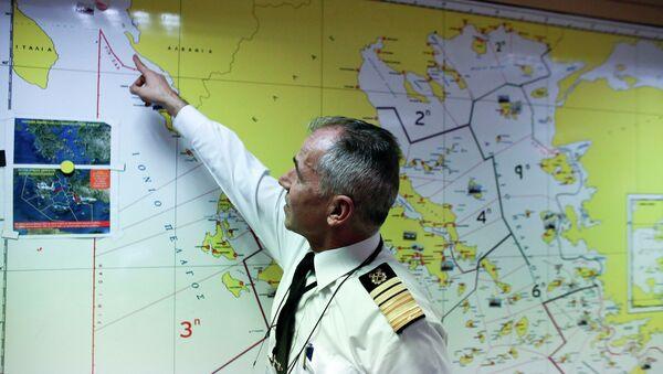 Начальник береговой охраны Греции указывает последнее известное положение загоревшегося парома Norman Atlantic