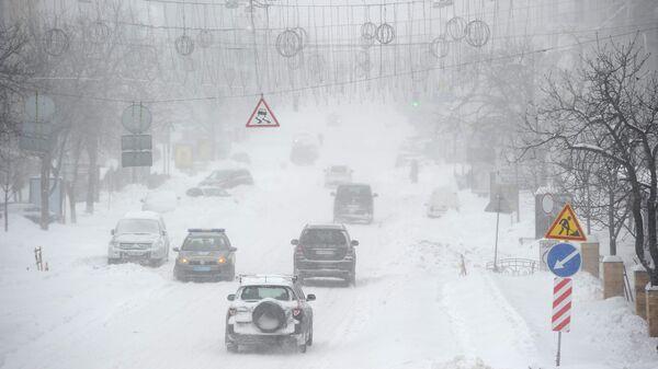 Украина. Снегопад. Архивное фото.