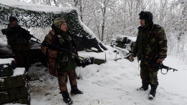 Бойцы украинского добровольческого батальона в Донбассе