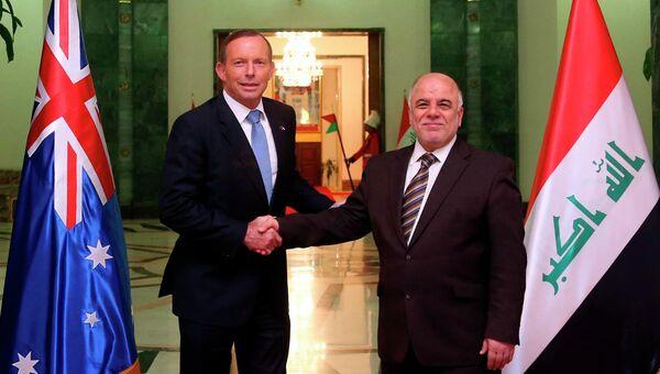 Встреча в Багдаде премьер-министр Ирака Хайдера Аль-Абади с австралийским коллегой Тони Эбботом