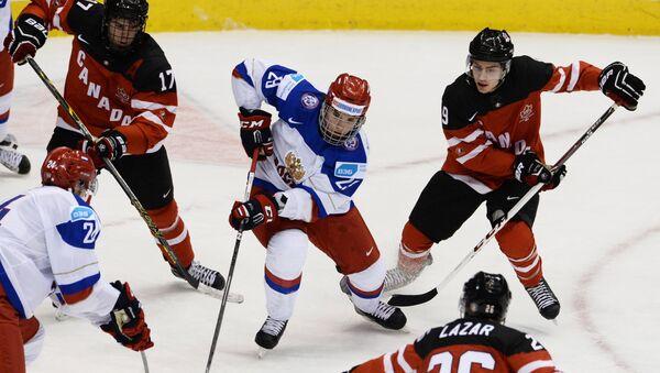 Финальный матч молодежного ЧМ Канада - Россия