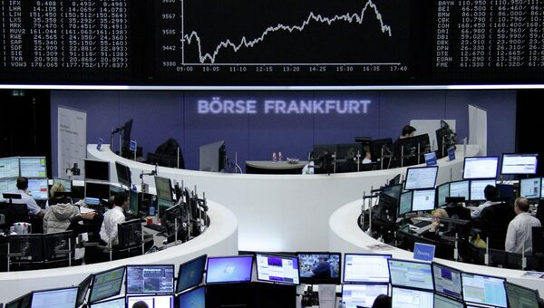 Торги на фондовой бирже во Франкфурте
