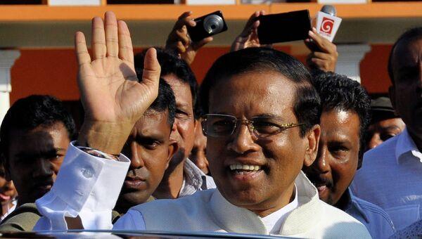 Майтрипала Сирисена, победивший на президентских выборах в Шри-Ланке