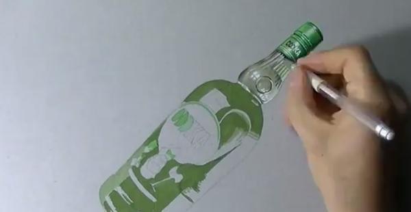 3D рисунок при помощи карандашей, ручек и фломастеров
