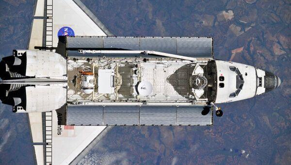 Атлантис. Вид с МКС. Архивное фото