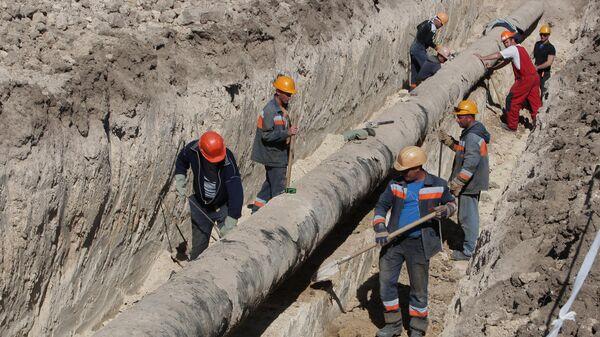 Подготовка газопровода. Архивное фото