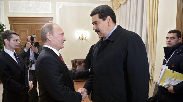 Президент РФ В.Путин встретился с президентом Венесуэлы Н.Мадуро