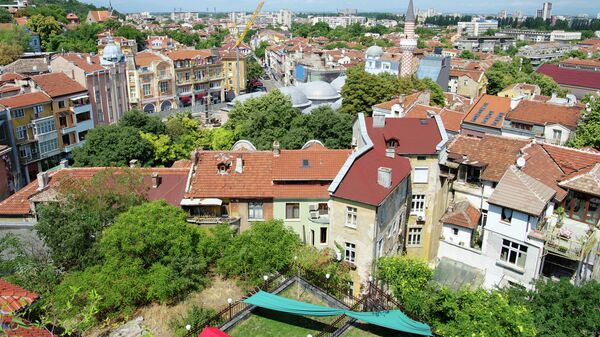 Вид на город Пловдив, Болгария. Архивное фото